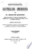 Ortografía castellana americana