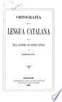 Ortografía de la lengua catalana