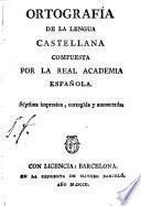 Ortografia dela lengua castellana