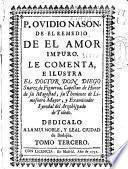 P. Ovidio Nasón, De el remedio de el amor impuro