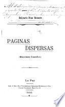 Páginas dispersas (miscelánea científica)