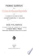 Páginas gloriosas de la marina de guerra española