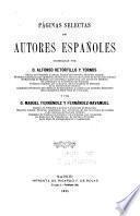 Páginas selectas de autores españoles