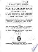 Pan eucharístico de todo el año ó año perpetuo eucharístico para todos los dias