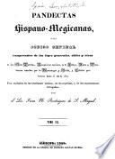 Pandectas hispano-megicanas
