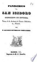 Panegírico de San Isidoro