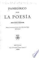 Panegirico por la poesía