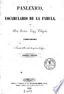Panlexico, vocabulario de la fabula