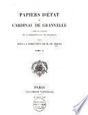 Papiers d'état du cardinal de Granvelle d'après les manuscrits de la Bibliothèque de Besançon