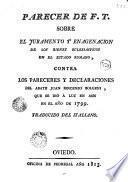 Parecer de F.T. sobre el juramento y enagenación de los bienes ectesiásticos, en el Estado Romano