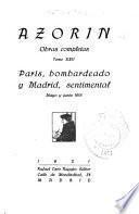 París, bombardeado, y Madrid, sentimental, mayo y junio 1918