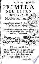 Parte primera del libro intitulado Noches de invierno, compuesto por Antonio de Eslava...