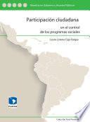 Participación ciudadana en el control de los programas sociales