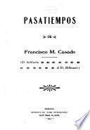 Pasatiempos de Francisco M. Casado (El Solitario, el Dr. Bellamar)