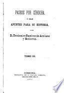 Pascos por Córdoba ó sean apuntes para su historia