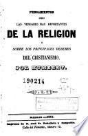 Pensamientos sobre las verdades más importantes de la religión y sobre los principales deberes del cristianismo