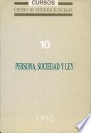 Persona, sociedad y ley