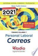 Personal Laboral Correos. Temario. Volumen 1