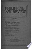 Philippine Law Review