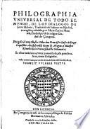 Philographia universal de todo el mundo ... traduzida de Italiano en Espanol, corregida y anadida por Carlos Montesa etc