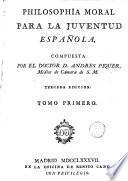 Philosophía moral para la juventud española