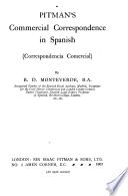 Pitman's commercial correspondence in Spanish (correspondencia comercial)
