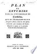Plan de estudios para la Universidad de Cordoba
