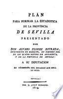 Plan para formar la estadística de la Provincia de Sevilla