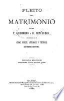 Pleito del matrimonio entre T. Guerrero y R. Sepúlveda