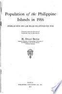 Población de Las Islas Filipinas en 1916