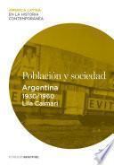 Población y sociedad. Argentina (1930-1960)