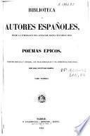 Poemas épicos: (VII, 628 p.) .- Vol.2 (XXVII, 518 p.)