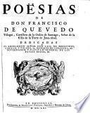 Poesias. - Brusselas, Foppens 1661