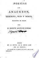 Poesías de Anachreón,Teócrito,Bion y Mosco