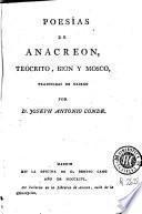 Poesías de Anacreon, Teócrito, Bion y Mosco