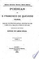 Poesias de D. Francisco de Quevedo Villegas