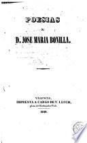 Poesias de D. jose Maria Bonilla