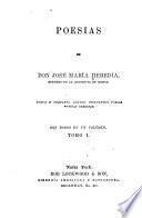 Poesias de don José María Heredia