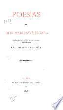 Poesías de don Mariano Melgar