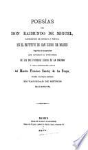 Poesías de Don Raimundo de Miguel ...