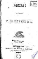 Poesias de la señorita D Luisa Pérez y Montes De Oca