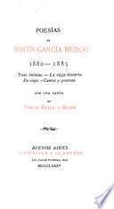 Poesías de Martín García Mérou, 1880-1885
