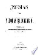 Poesias de Nicolas Balcazar G.