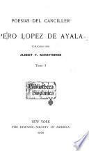 Poesías del canciller Pero Lopez de Ayala