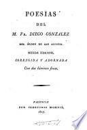 Poesías del M. Fr. Diego González del Órden de San Agustín