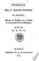 Poesías del P. Basilio Bogiero de Santiago