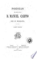 Poesias del señor doctor D. Manuel Carpio