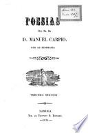Poesías del Sr. Dr. D. Manuel Carpio