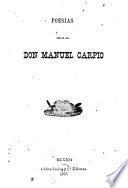 Poesías del Sr. Dr. Don Manuel Carpio