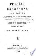Poesías escogidas. ... Con un discurso sobre la Oda por Marmontel